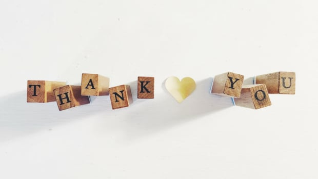 thank you blocks with a yellow heart
