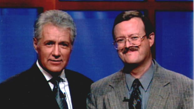 Alex Trebek and Bill O'Donnell