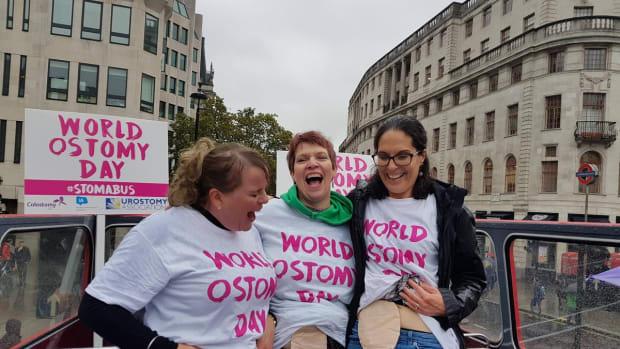 World Ostomy Day stoma bus London