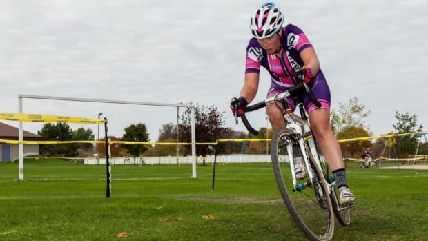 Vicki Thomas on bike