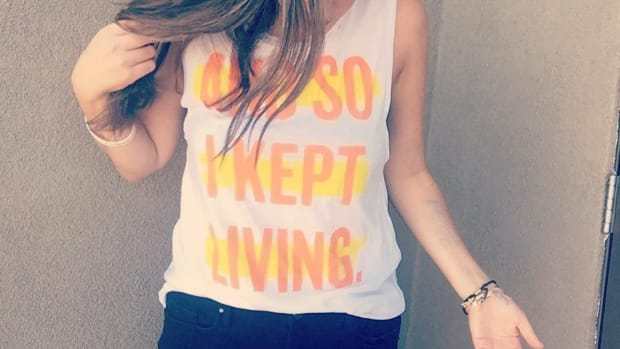 Dana Marie Arnold in keep living tshirt
