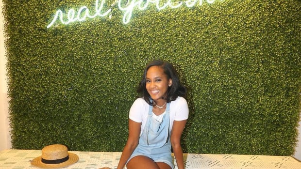Gaylyn Henderson at Aerie store