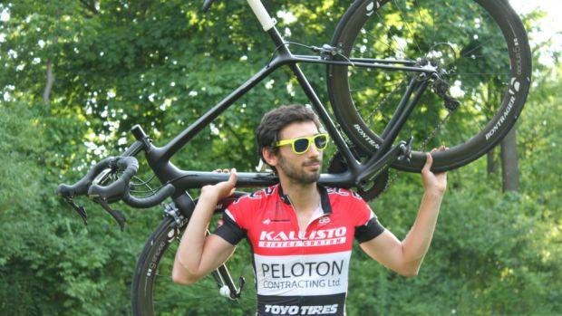 Cyclist Matthew Newman
