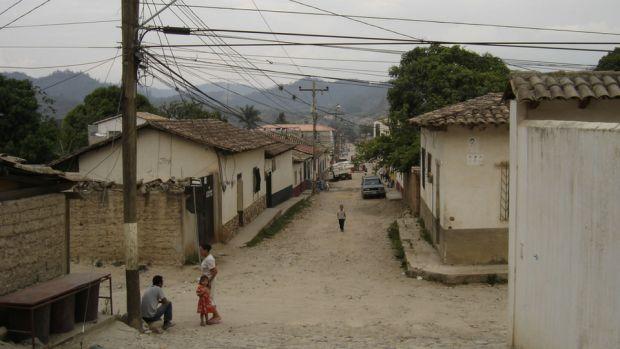 streets of Gracias Lempira Honduras