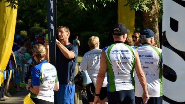Team Ostomy United at Lake Meridian Triathlon