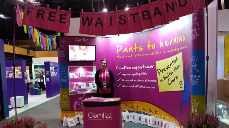 "EXCITING NEWS from Comfizz: ""Pants To Hernias"" year-long waistband giveaway."