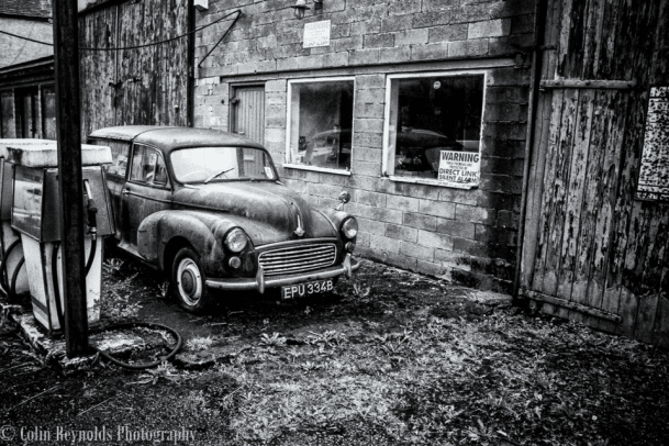 old car gas station by Collin Reynolds Photography