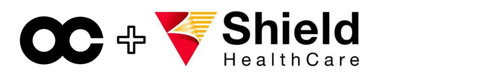 Shield HealthCare lower sponsor badge
