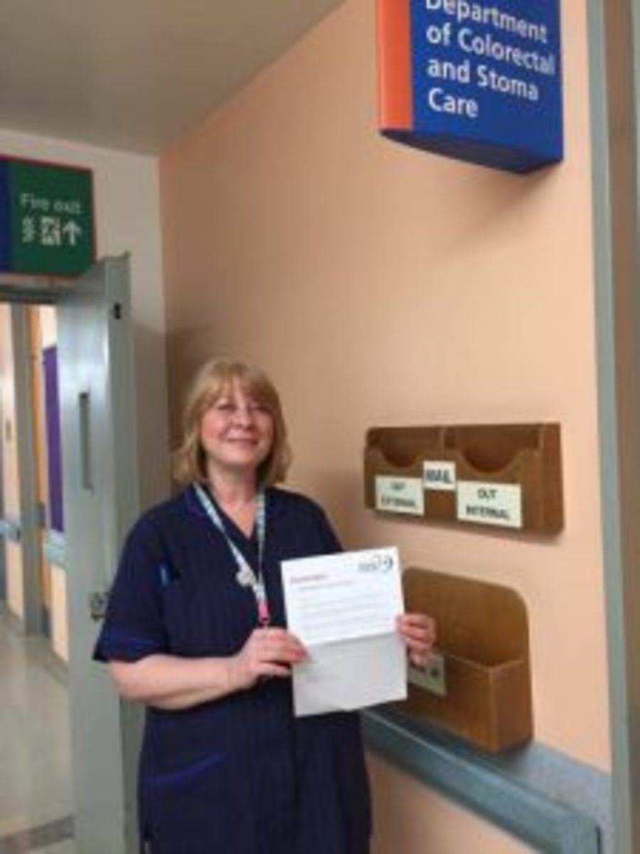 Nurse Kate Wilson from             QMC Nottingham.