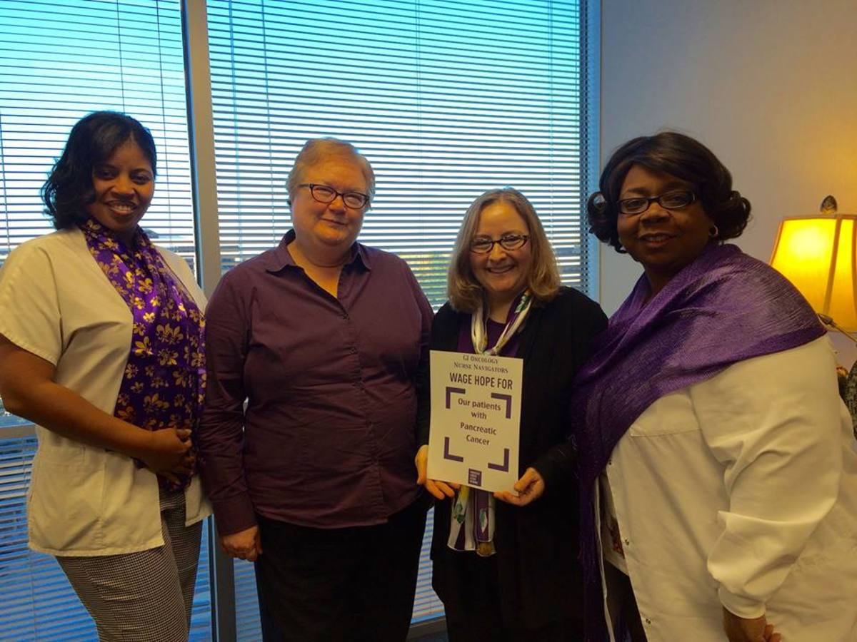 "Gwen (second from right): ""Proud to work with my fellow GI Nurse Navigators."""
