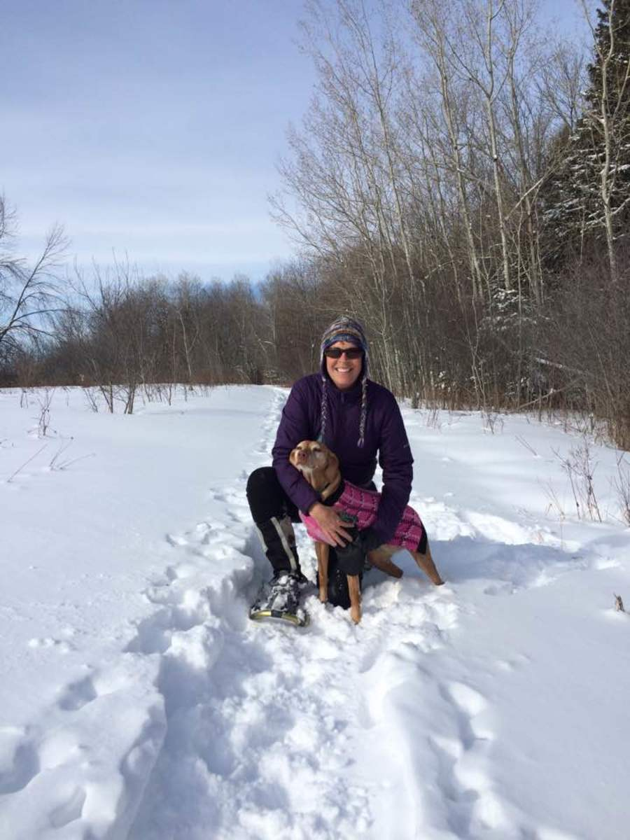 Trish Massart with dog