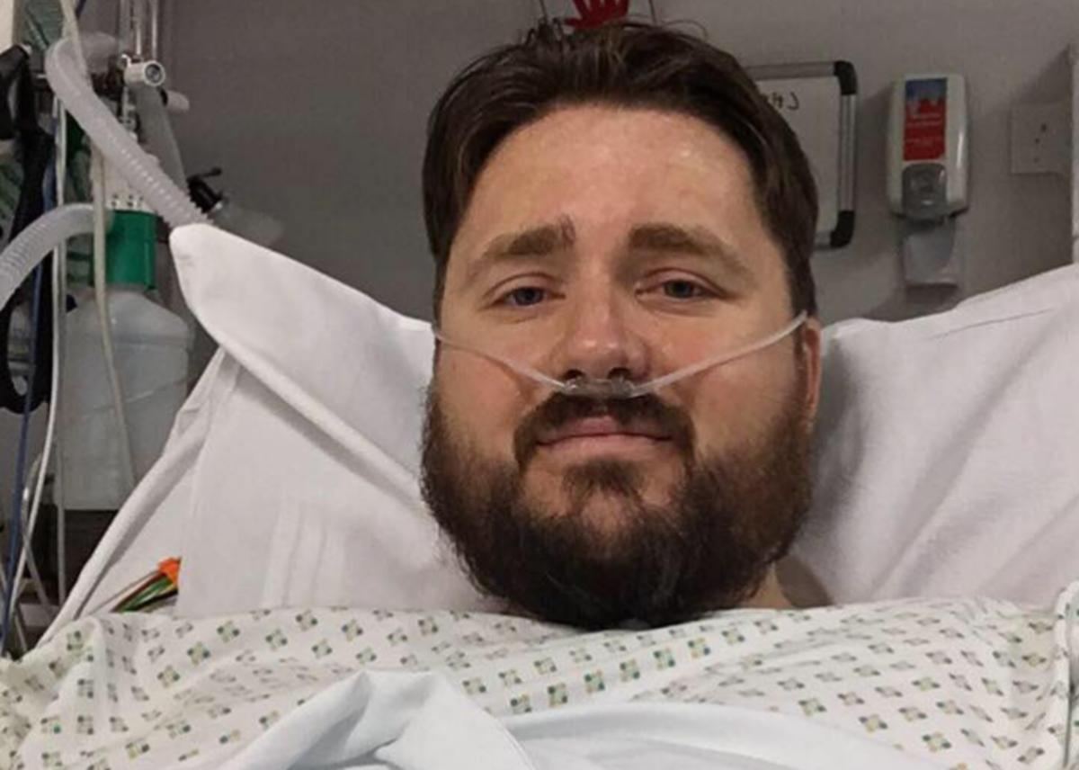Chris Livett in the hospital