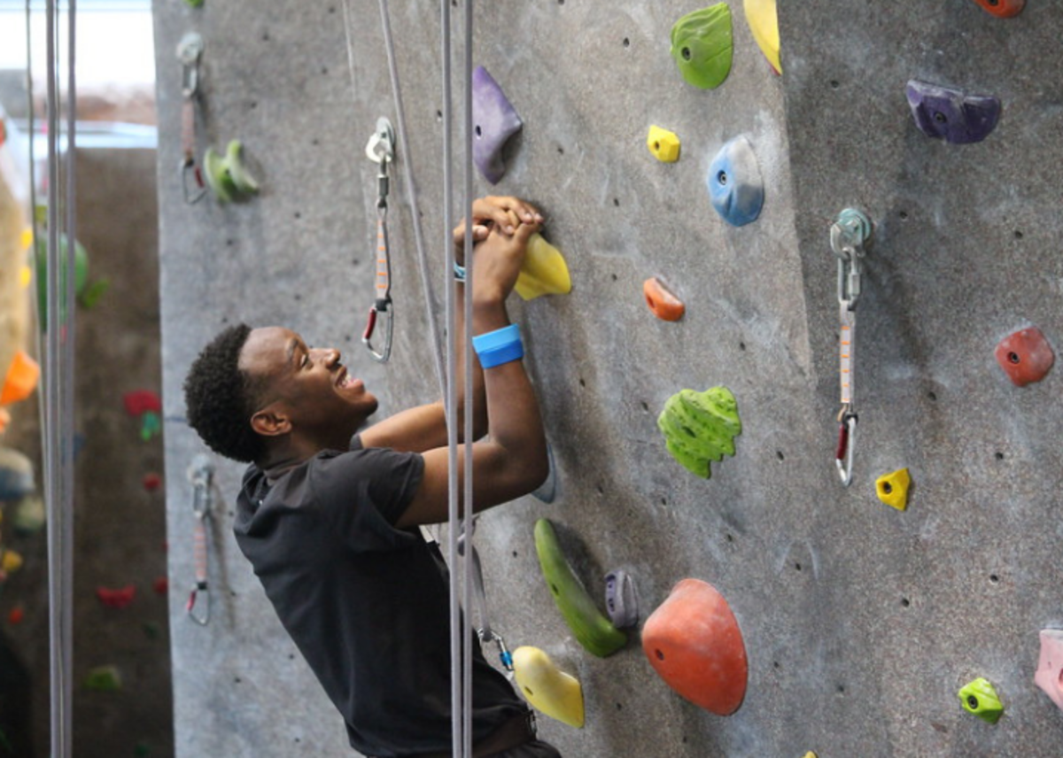 2018 Youth Rally rock climbing