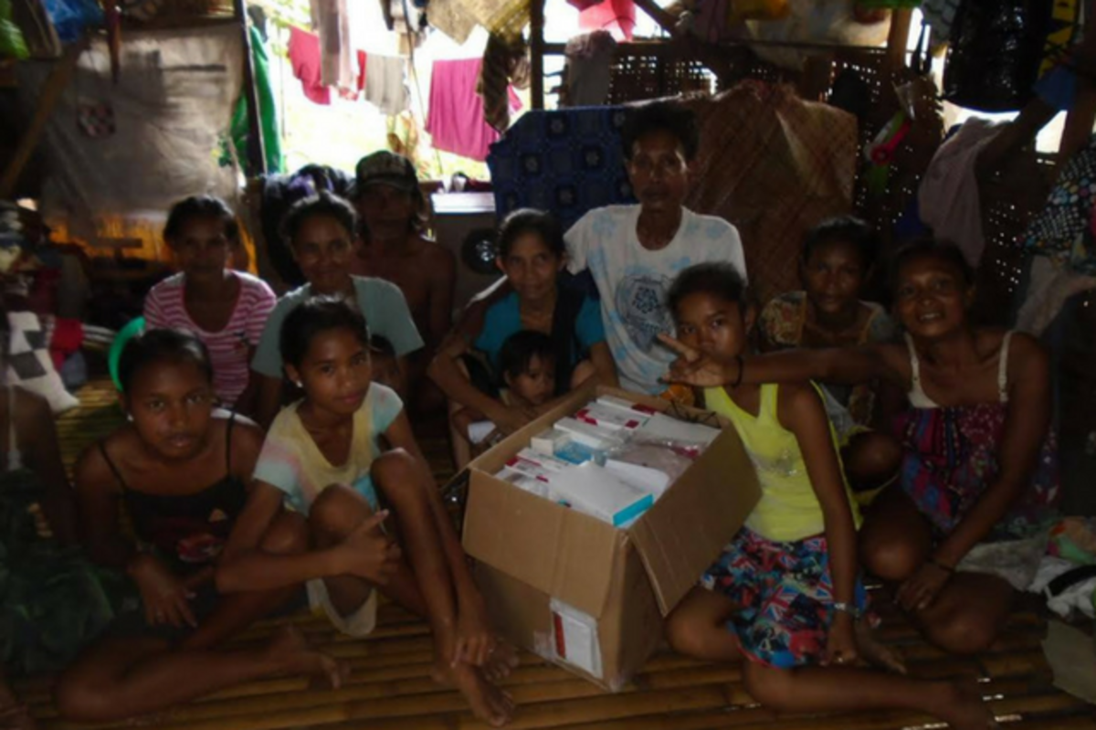 Ostomy supplies sent to Philippines, Badjao Bridge