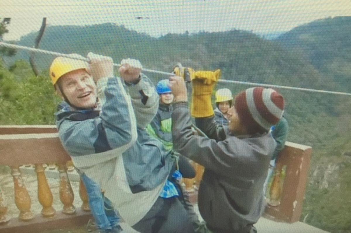 Joseph Salisz, MD ziplining in Honduras
