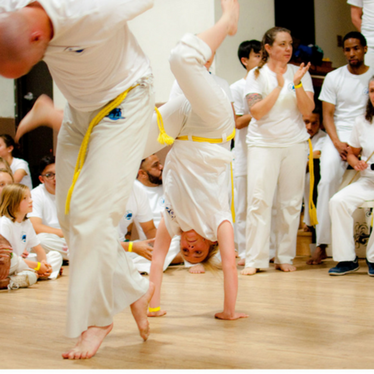Karin Miller performing Capoeira martial arts