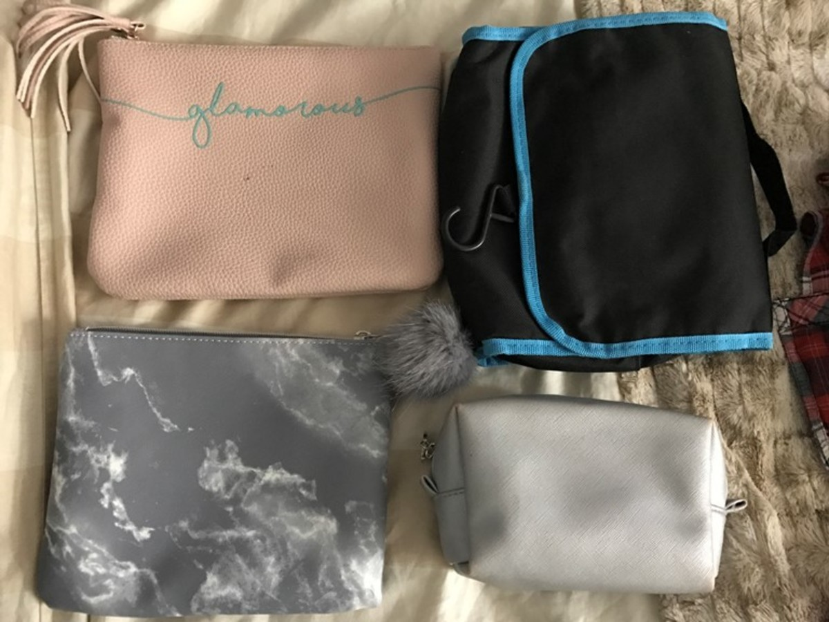 assorted travel bags