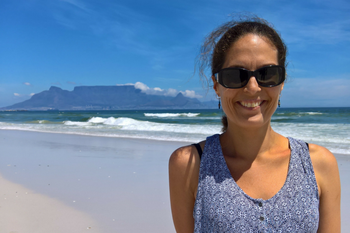 Laura Z with Table Mountain in background