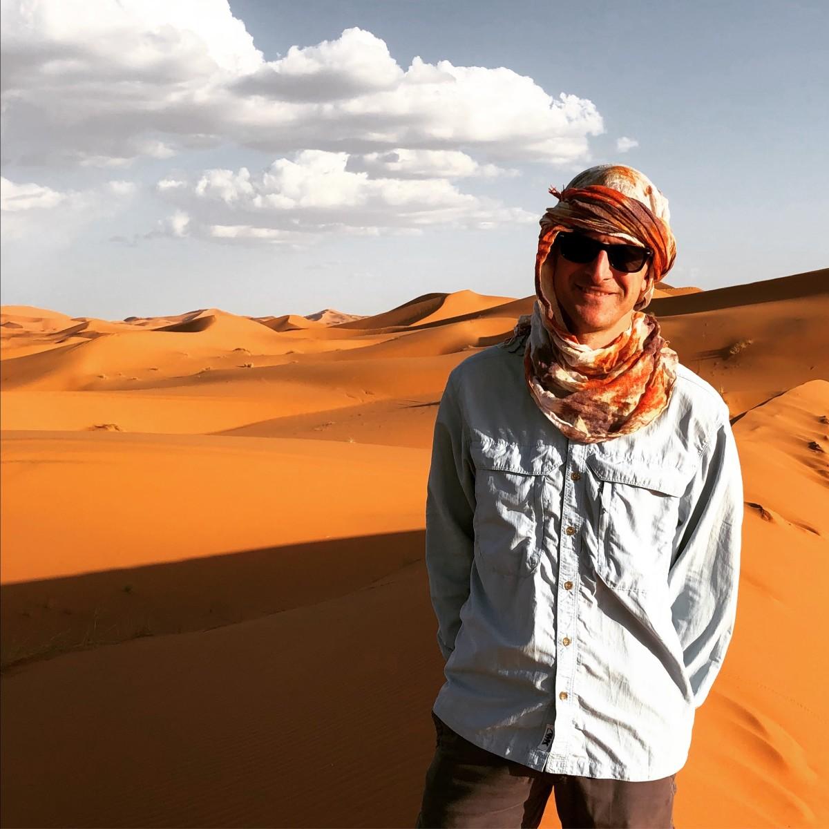 AJ Leveille in Morocco
