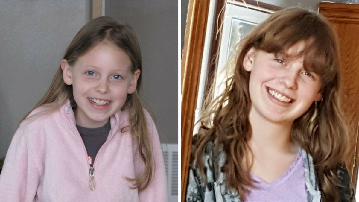 Shelby at age 9 and 18