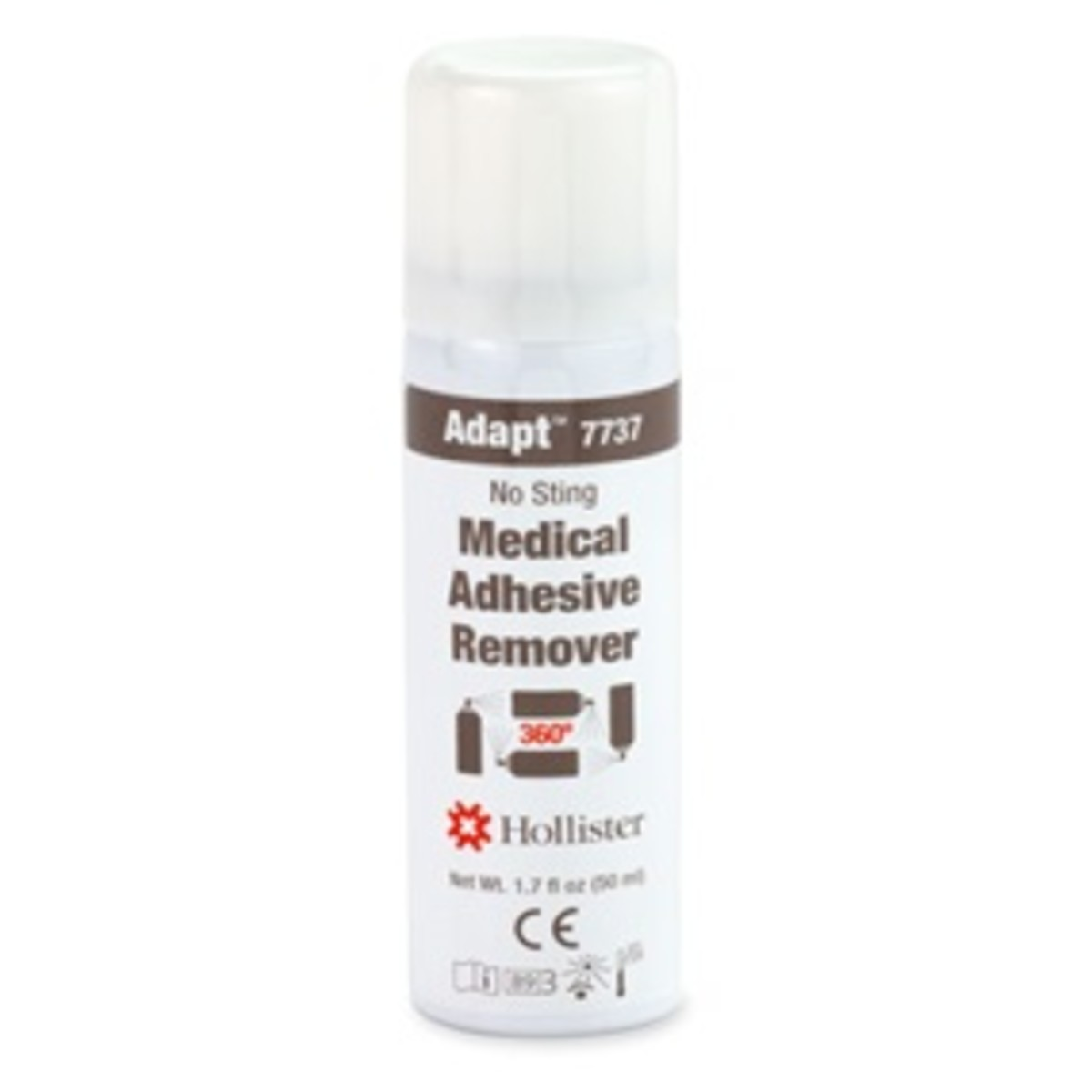 Adapt™ medical adhesive remover spray is not made with natural rubber latex and contains no CFCs.
