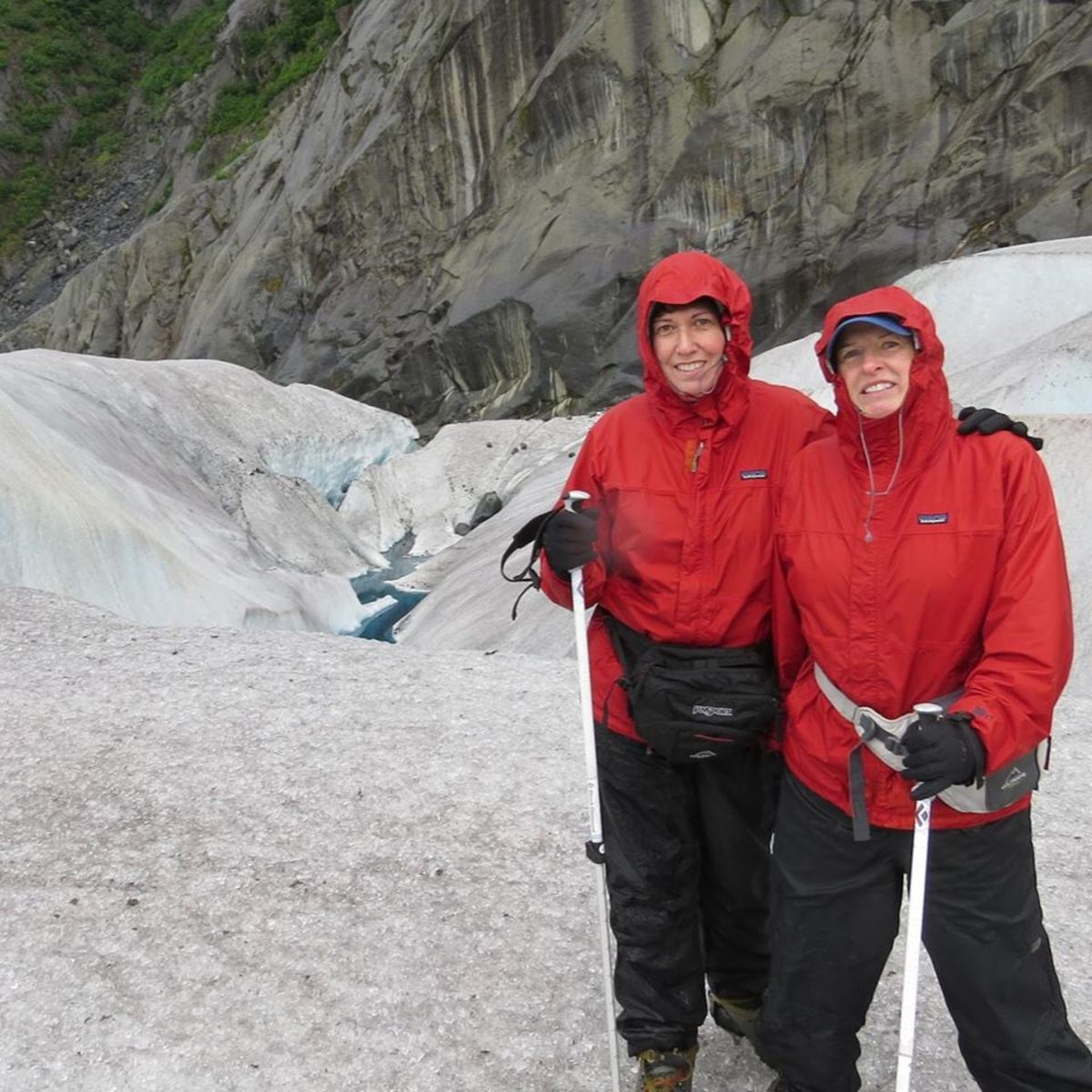 On a glacier in Alaska!