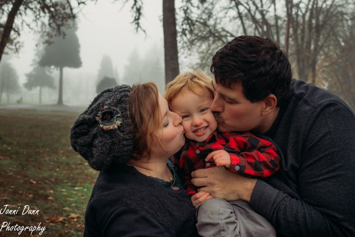 Roxanne Luckman and family