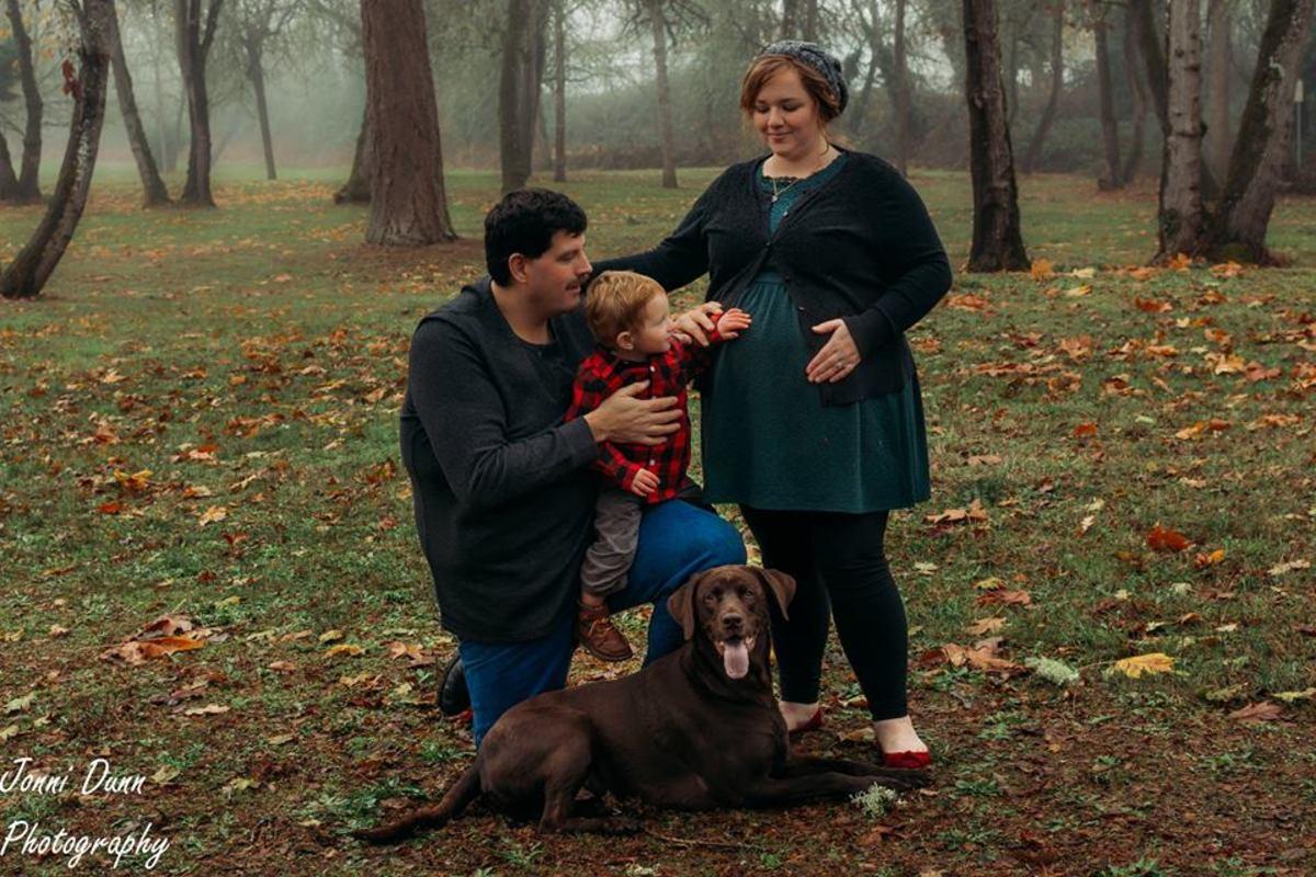Roxanne Luckman and family dog